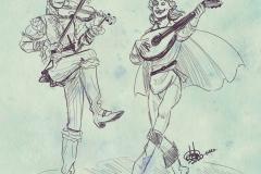 Serena y Val jamming, por Toñi