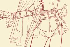 Los cinturones de Serena, por Toñi