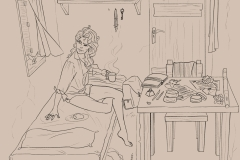 La habitación de Serena, por Toñi