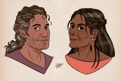 Los padres de Serena, por Toñi