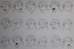 Estudio de la cara de Val, por Rubén